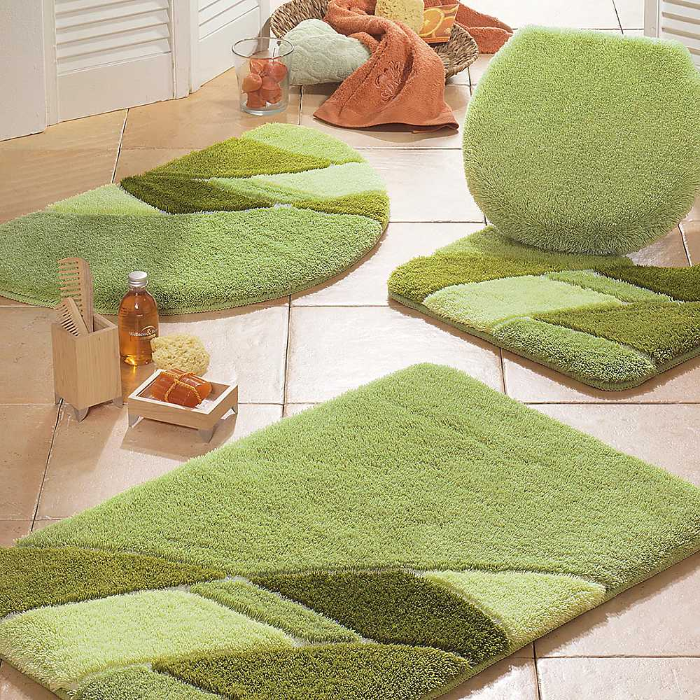 3 pcs green bath mat very interesting place to bathroom