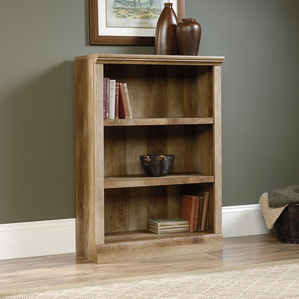 3 shelf sauder bookcases rustic design