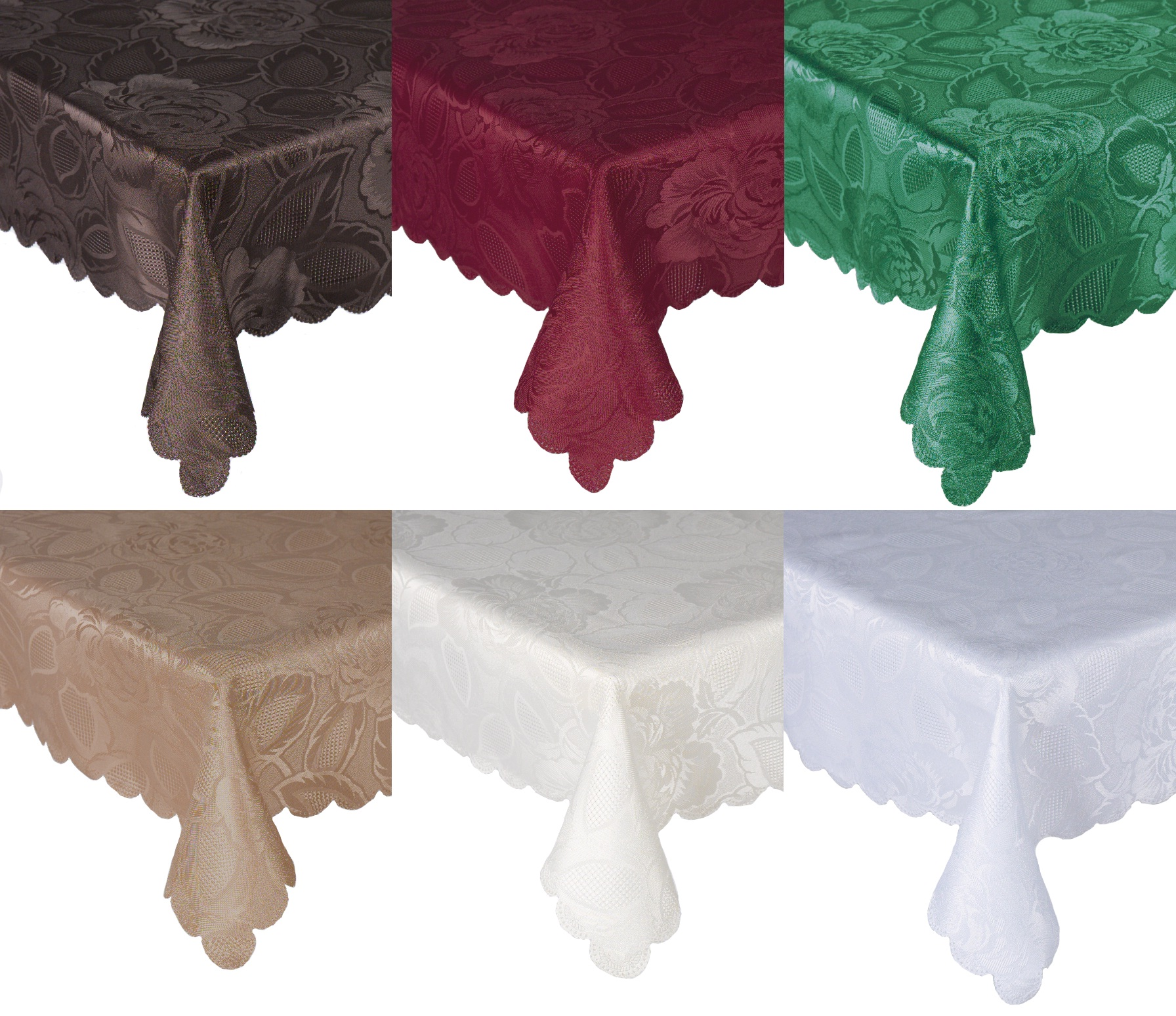 6 colors oblong tablecloth for home decor ideas