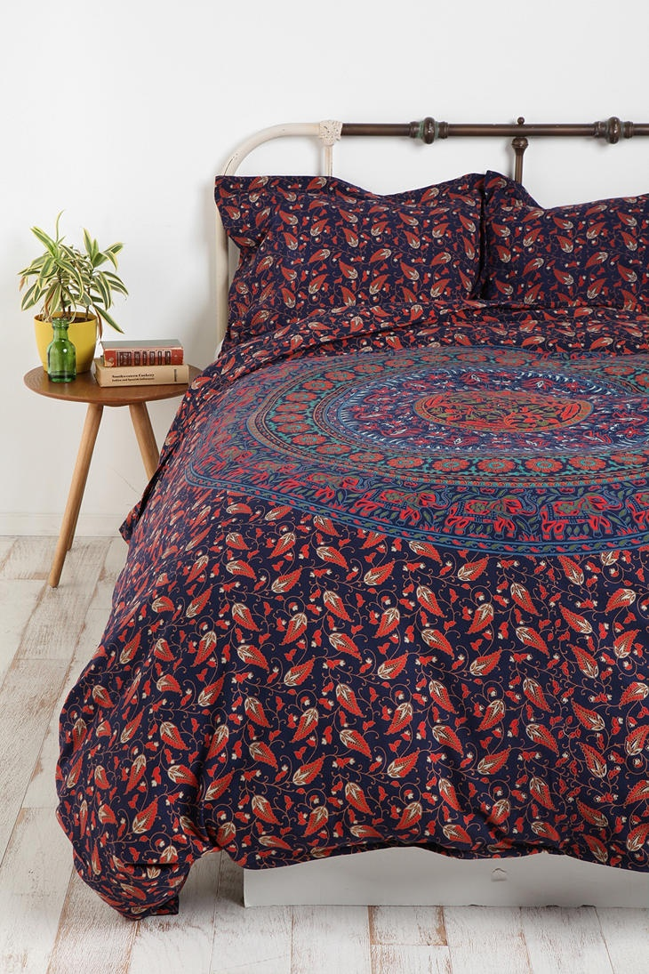 Admirable Queen And King Bed Size Bohemian Duvet Covers With Unique Pattern For Bed Room Furniture Ideas