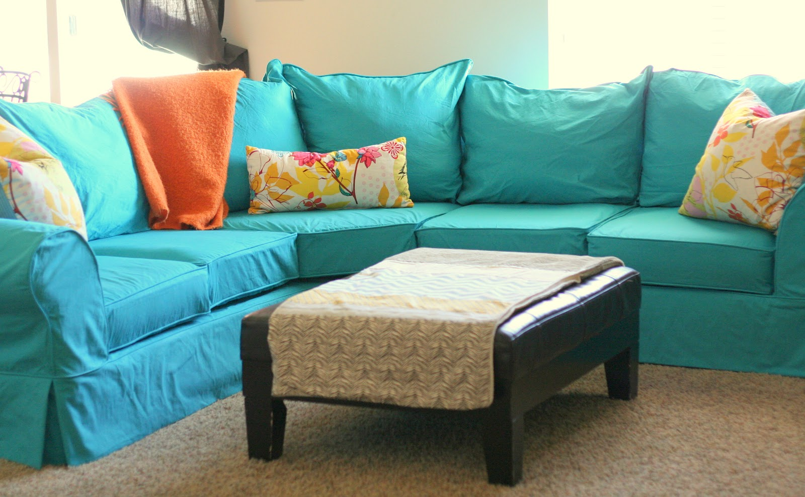 Genial Admirable Blue Ocean Sectional Sofa Covers