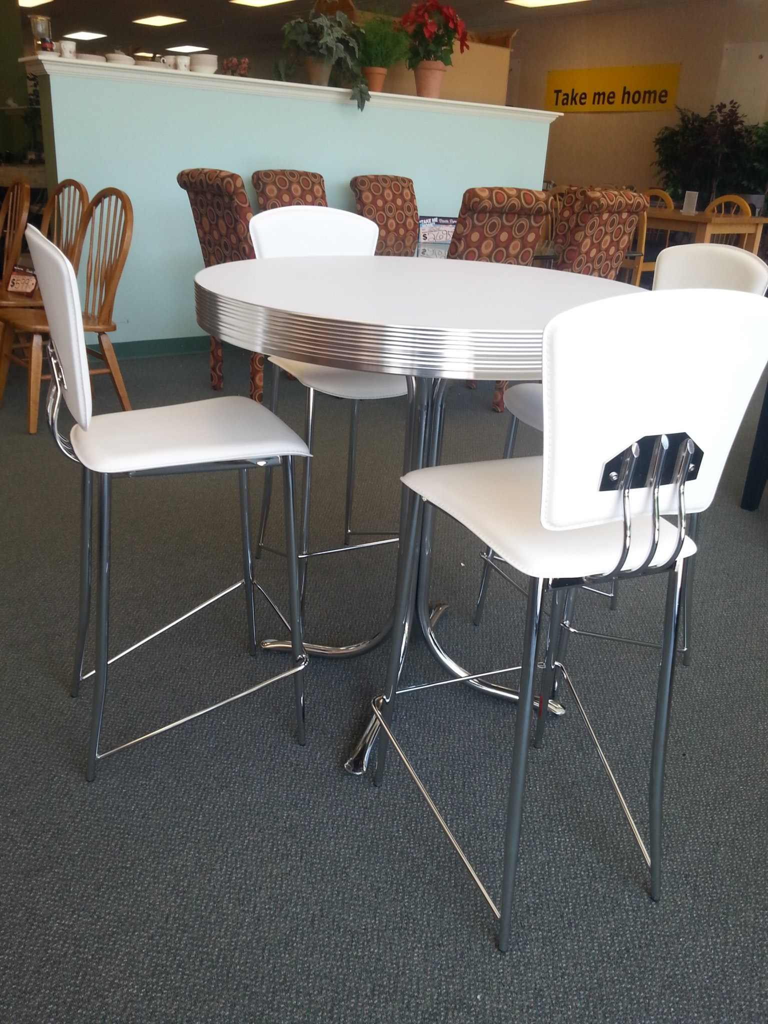 Admirable dinette depot white round furniture