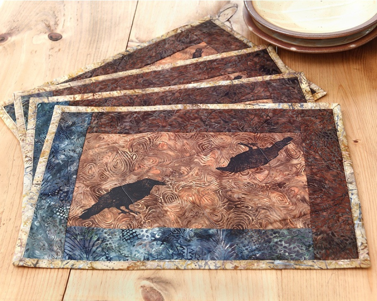 Admirable mat with variant colors quilted placemats combined decorative color pattern for flooring ideas