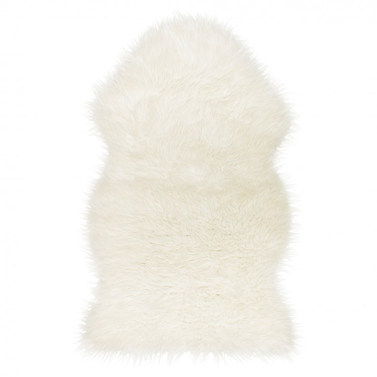 Adorable White Fur Rug With Best Wooden Laminate Flooring And Sofa Chairs For Living Room Ideas
