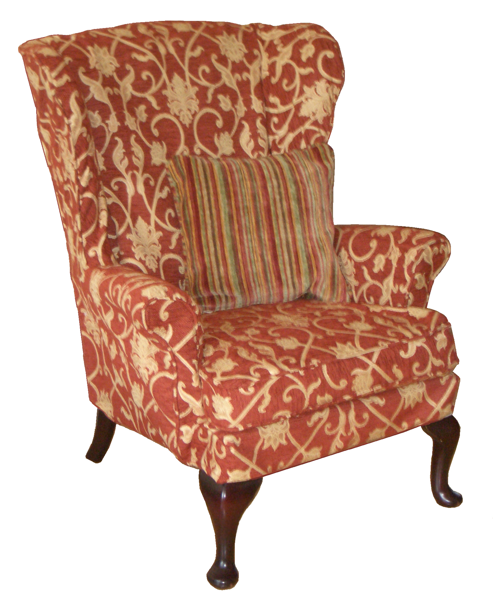 Adorable wing back chair with Solid Strong wood Furniture Design for Dining chair and Living Room Chair Ideas
