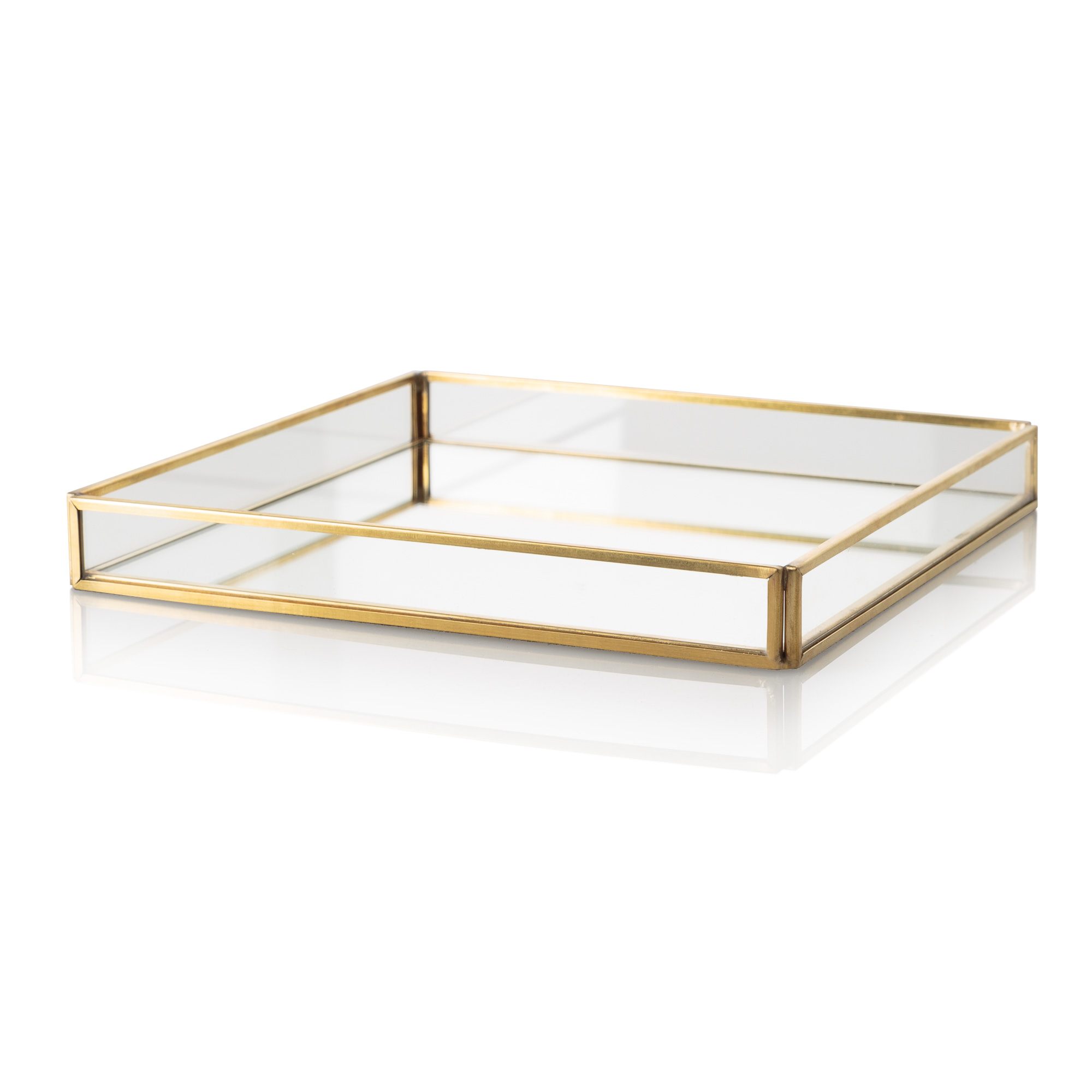 Alluring design mirror tray with modern design