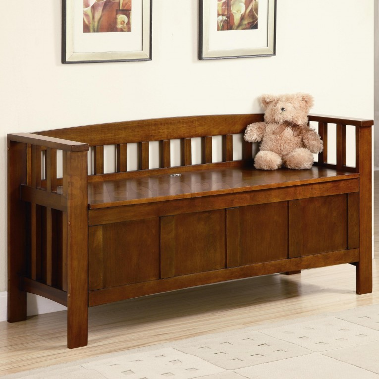 Amazing Wooden Outdoor Storage Bencheswith Teddy Bear