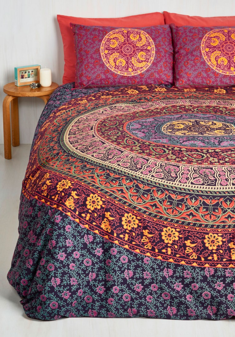 Amusing Queen And King Bed Size Bohemian Duvet Covers With Unique Pattern For Bed Room Furniture Ideas