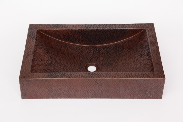Amusing Copper Vessel Sinks With Towel And Faucets Plus Wastafel For Bathroom Ideas