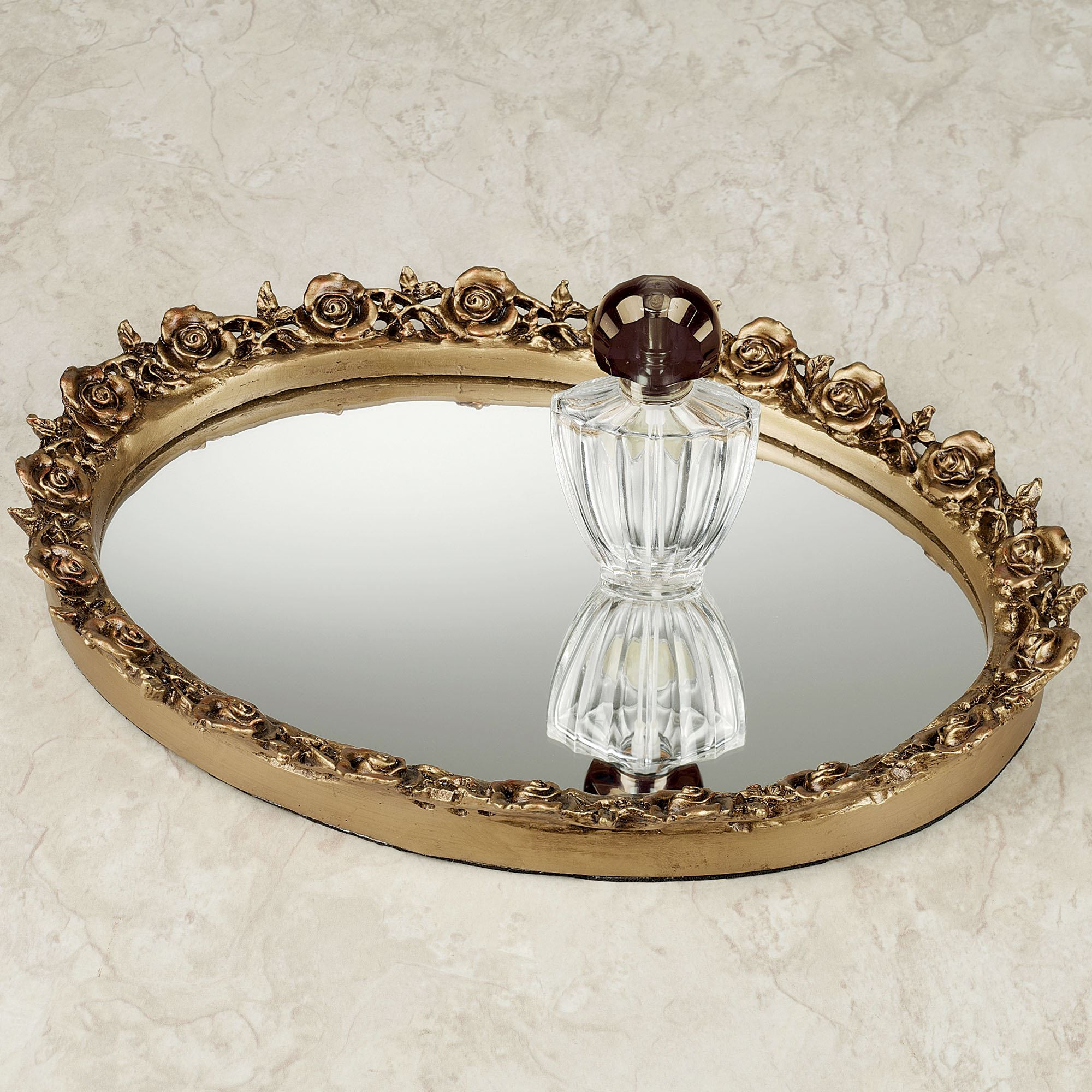 Appealing design mirror tray with modern design