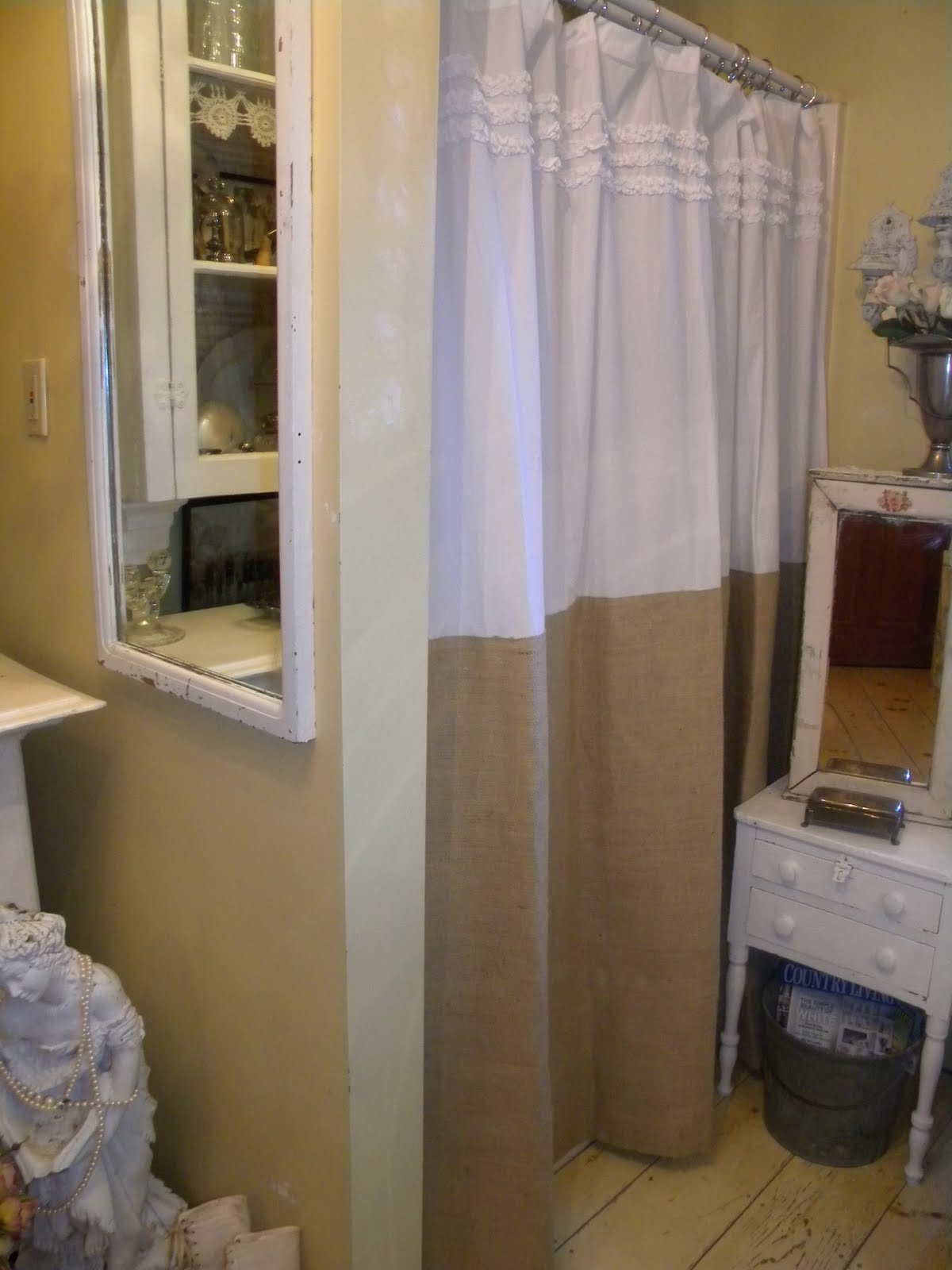 Astounding Design Color Bathroom with burlap shower curtain for make your Bathroom Interior more Awesome