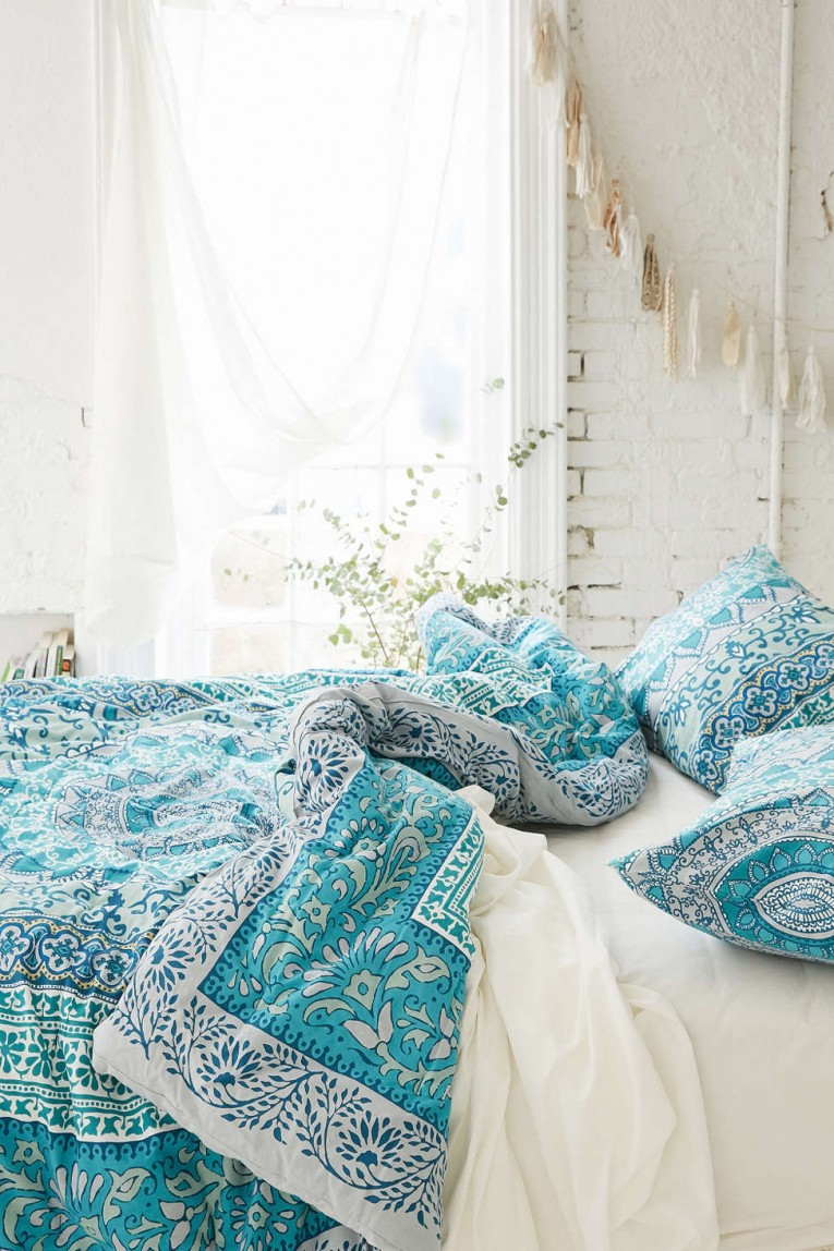 Attractive Queen And King Bed Size Bohemian Duvet Covers With Unique Pattern For Bed Room Furniture Ideas