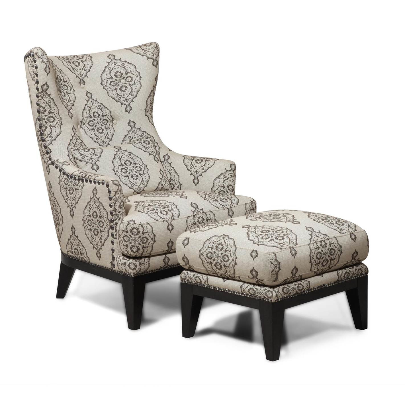 Dining Room: Attractive Wing Back Chair With Solid Strong Wood ...