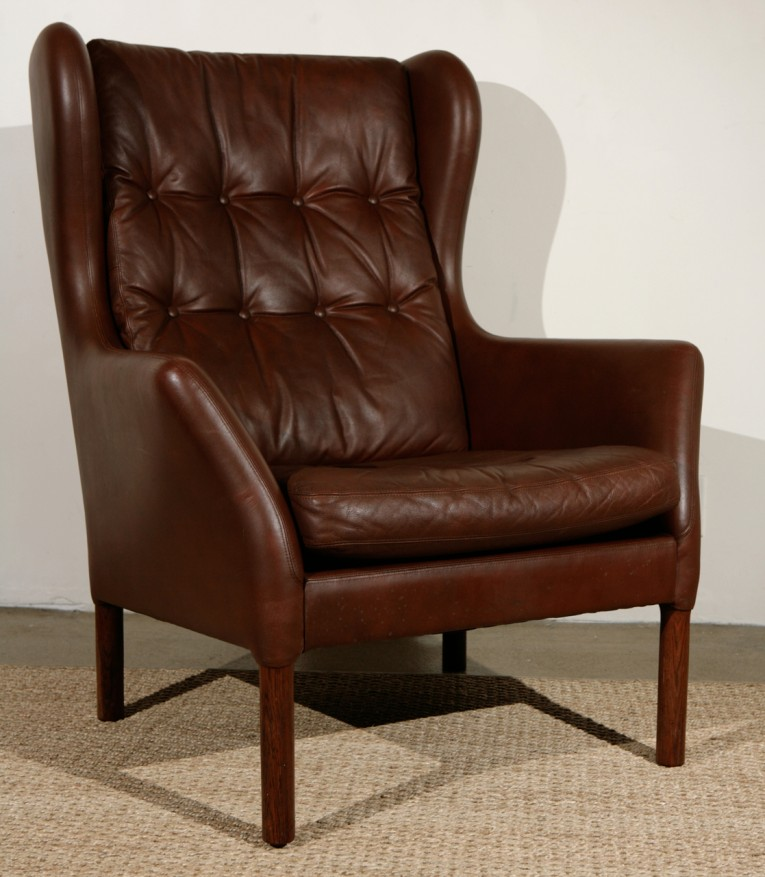 Awesome Wing Back Chair With Solid Strong Wood Furniture Design For Dining Chair And Living Room Chair Ideas