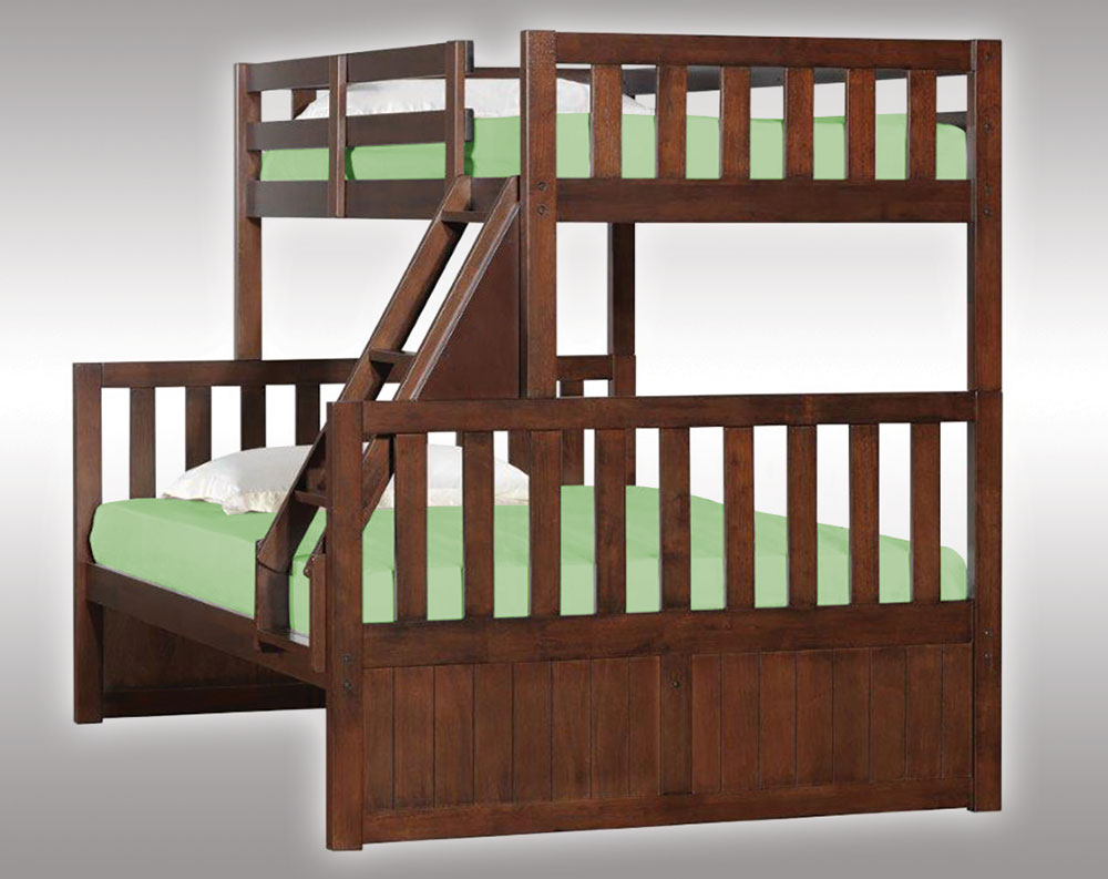 Beautiful cheap bunk beds for kids with area rugs and laminate flooring combined with picture on the wall for kids bed room ideas