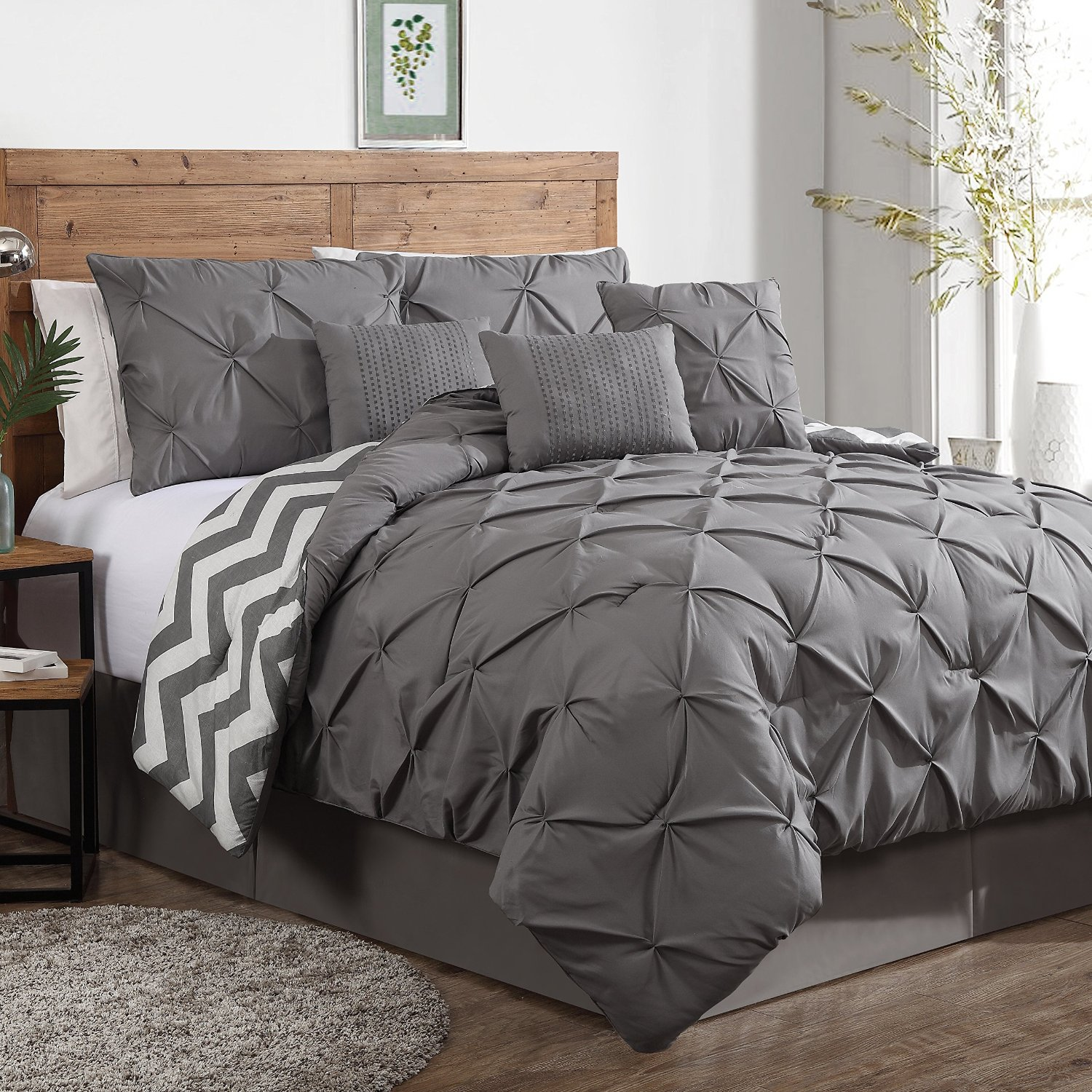 Beautiful Full Comforter Sets Bed Queen Size And King Bedsize Also Pillows And Cushion Combined With Headboards And Curtains