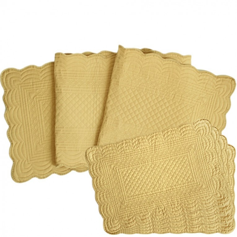 Beautiful Mat With Variant Colors Quilted Placemats Combined Decorative Color Pattern For Flooring Ideas