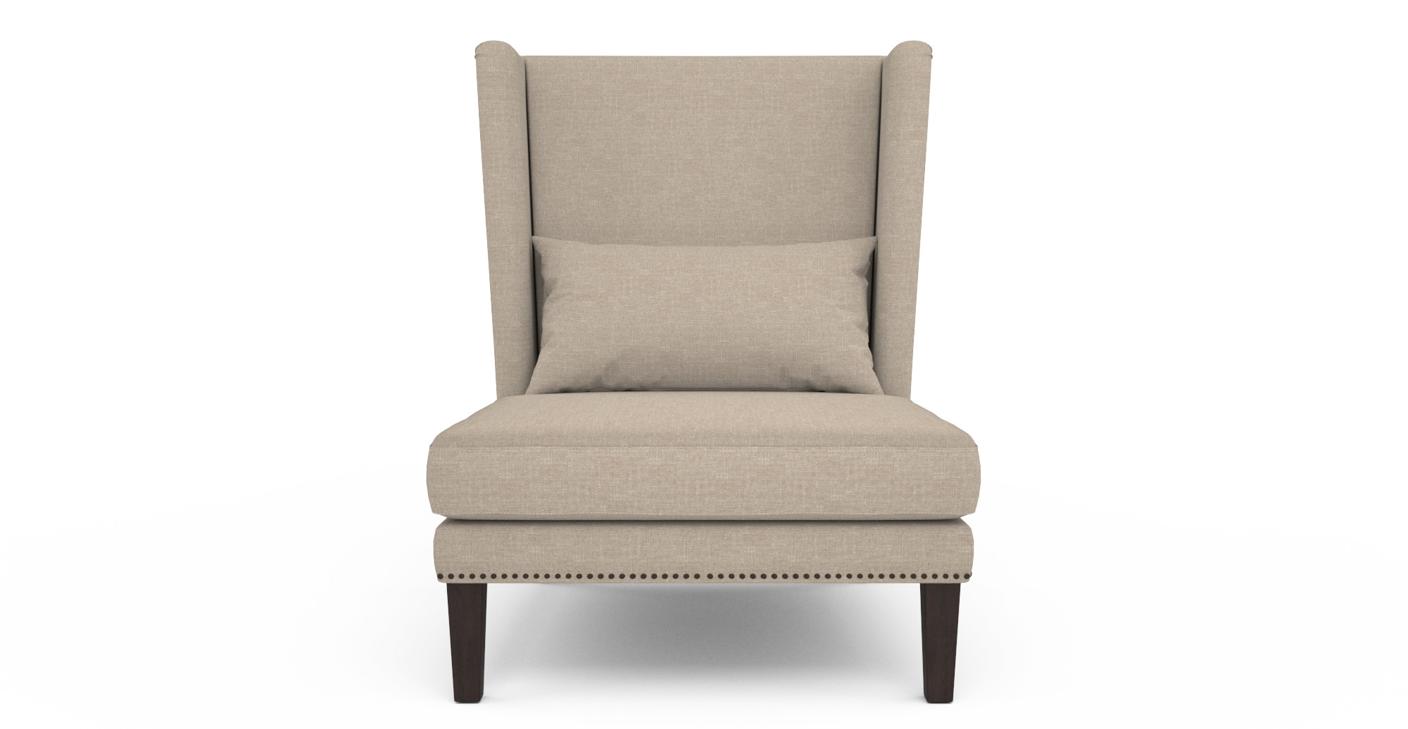 Beautiful wing back chair with Solid Strong wood Furniture Design for Dining chair and Living Room Chair Ideas