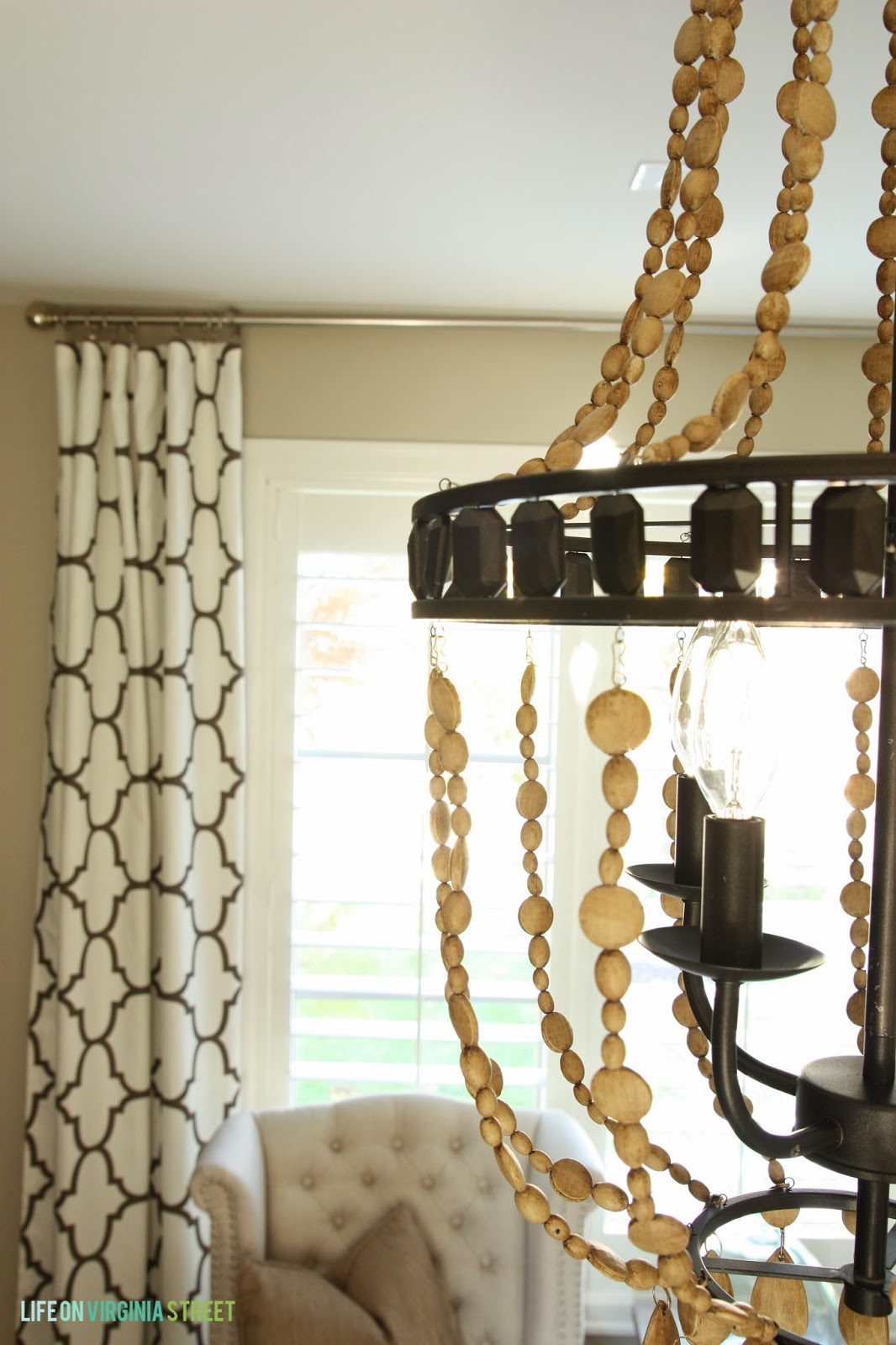 Best white wood bead chandelier with Ceiling Light Fixture Furnishing for living room Ideas