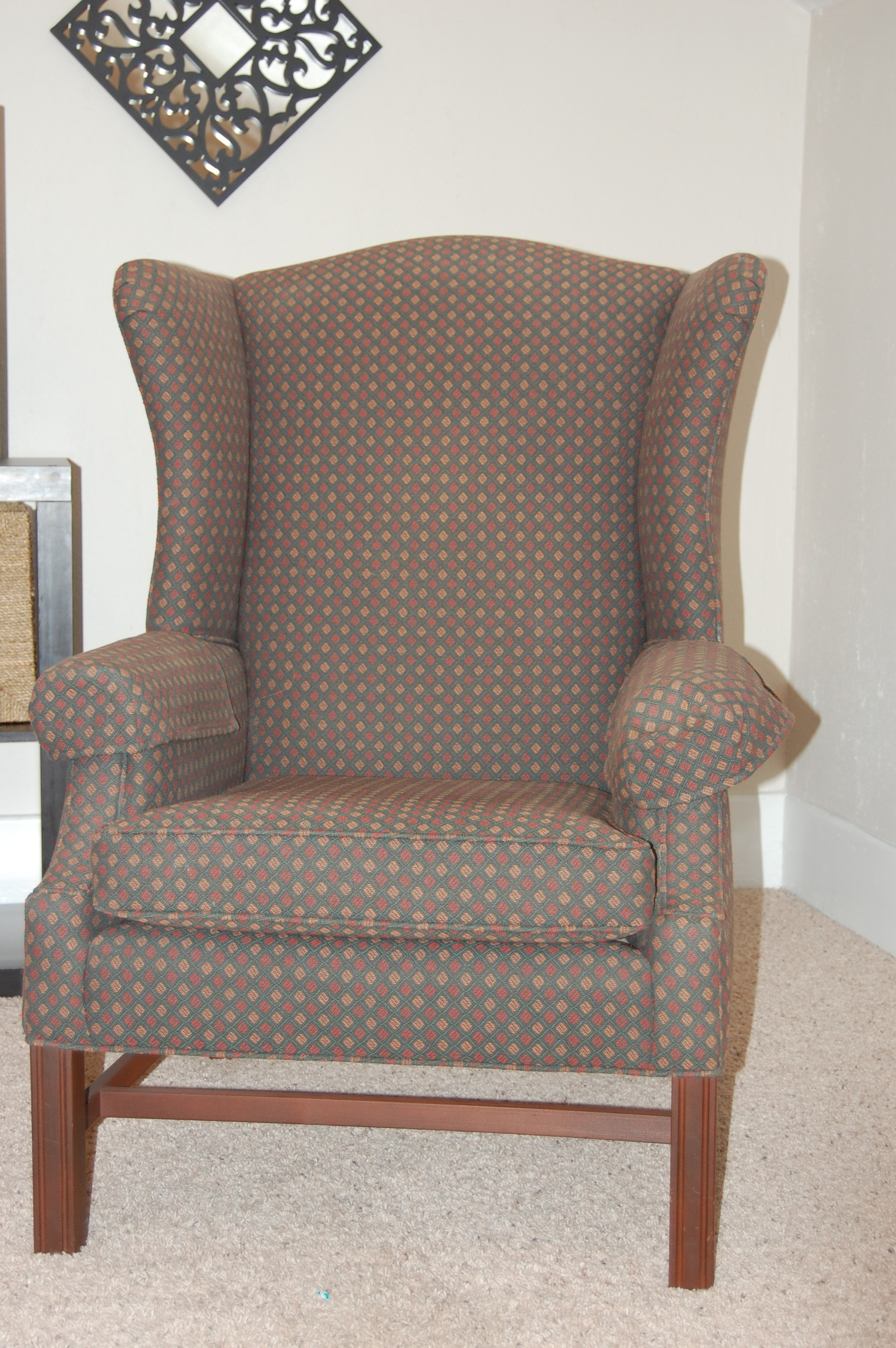 Dining Room: Best Wing Back Chair With Solid Strong Wood Furniture ...