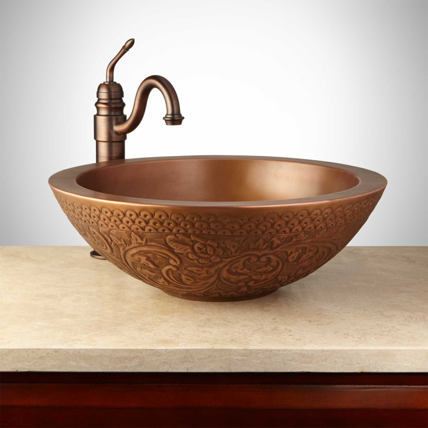 Breathtaking copper vessel sinks with towel and faucets plus wastafel for bathroom ideas