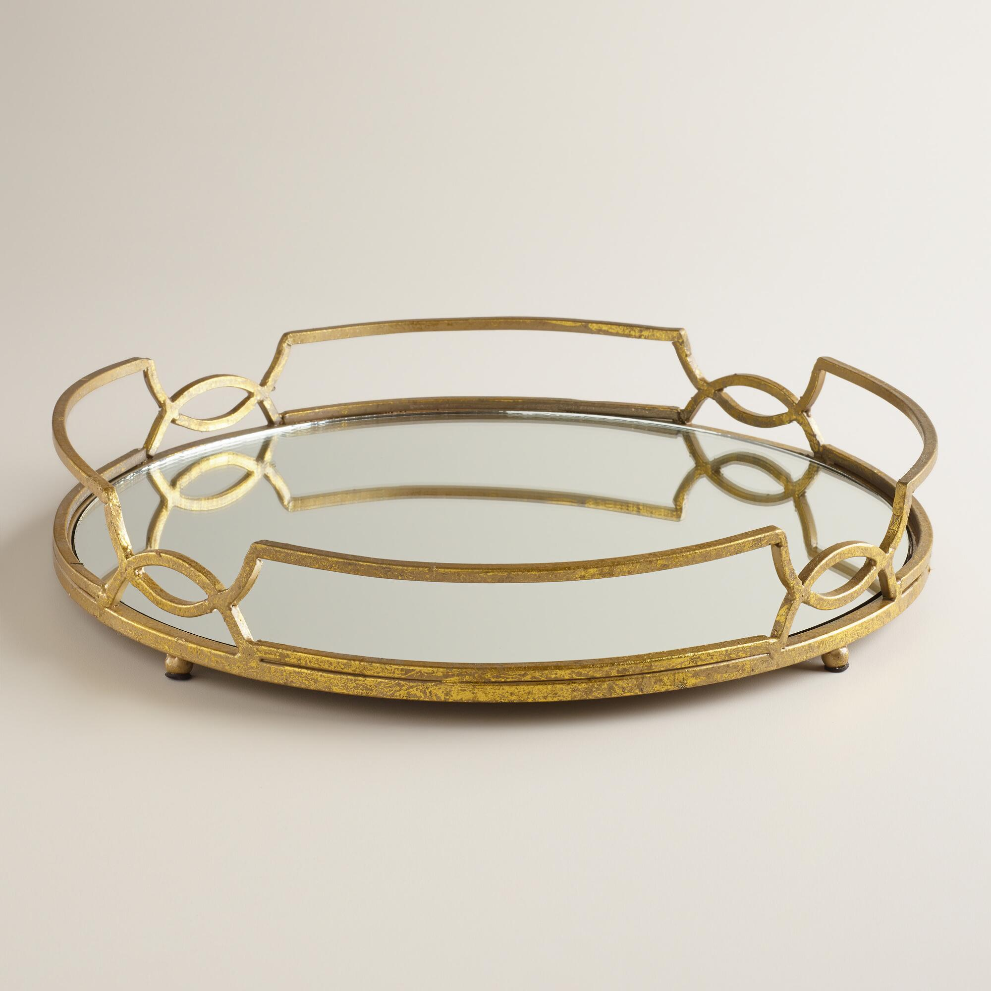 Breathtaking design mirror tray with modern design