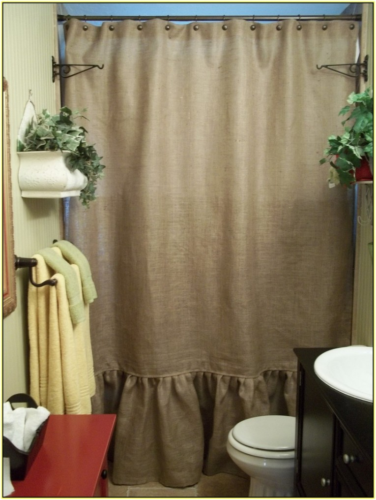Brilliant Design Color Bathroom With Burlap Shower Curtain For Make Your Bathroom Interior More Awesome