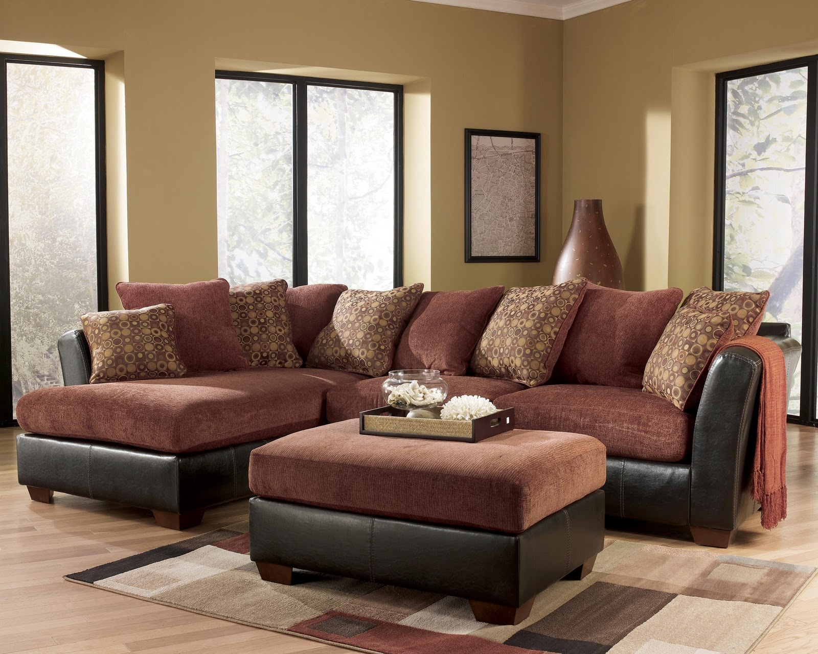 Brilliant Design sofas and sectionals with cushion and laminate flooring for living room Ideas