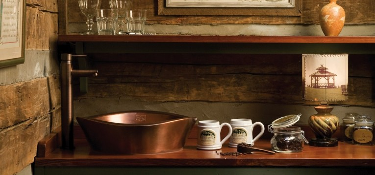 Brilliant Copper Vessel Sinks With Towel And Faucets Plus Wastafel For Bathroom Ideas