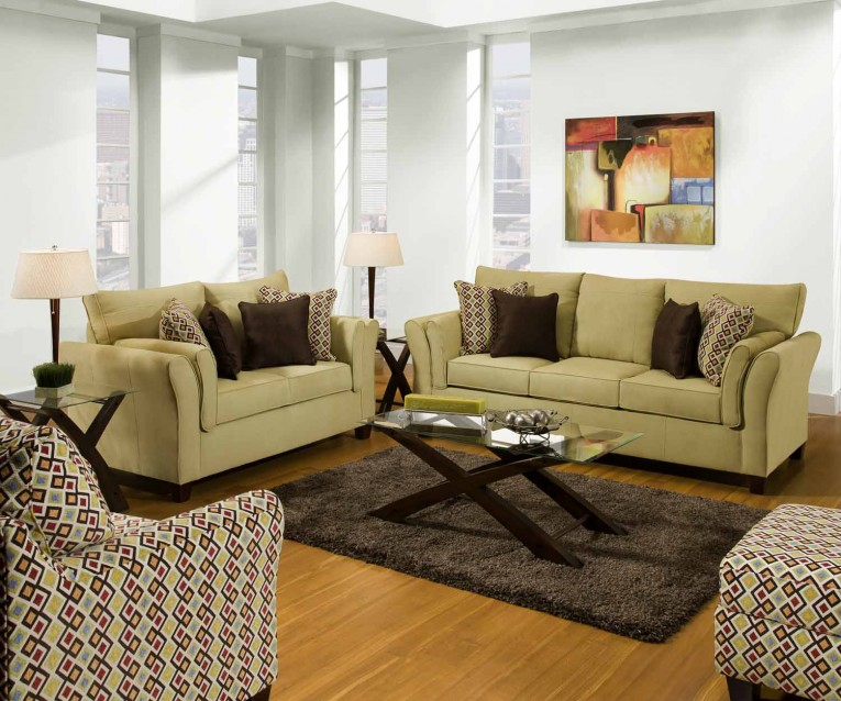 Brilliant United Furniture Industrieswith Ottoman And Dresstable And Pillows Plus Nightlamps Combined With Coffee Table For Home Furniture Ideas