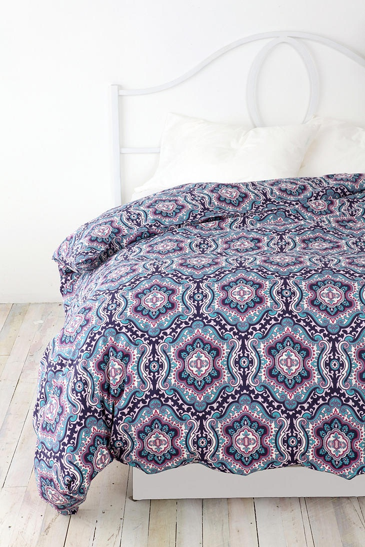 Captivating Queen and King Bed size bohemian duvet covers with unique pattern for Bed room Furniture Ideas