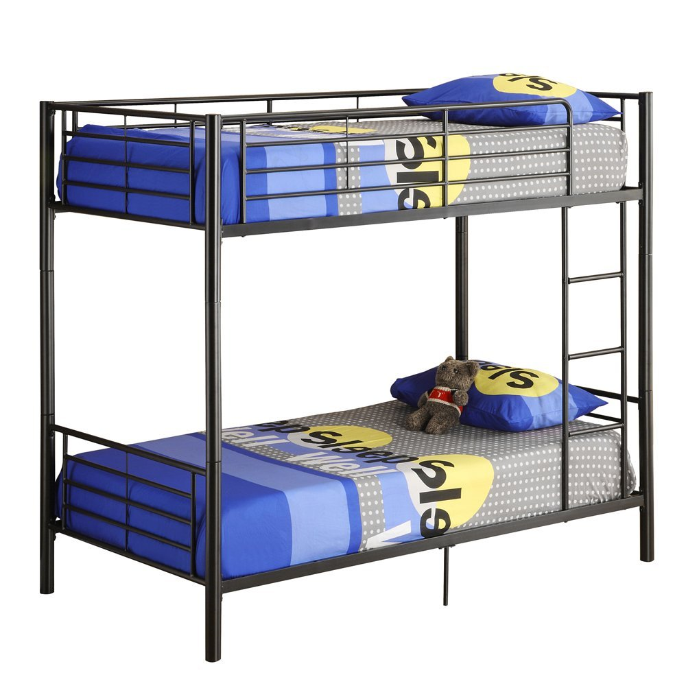 Captivating cheap bunk beds for kids with area rugs and laminate flooring combined with picture on the wall for kids bed room ideas