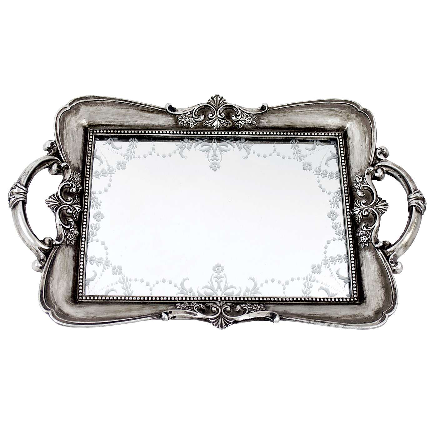 Captivating design mirror tray with modern design