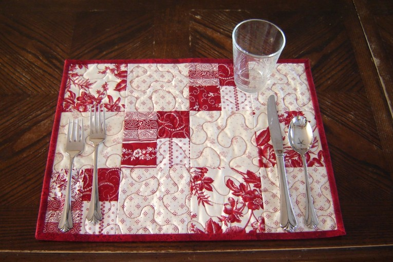 Captivating Mat With Variant Colors Quilted Placemats Combined Decorative Color Pattern For Flooring Ideas