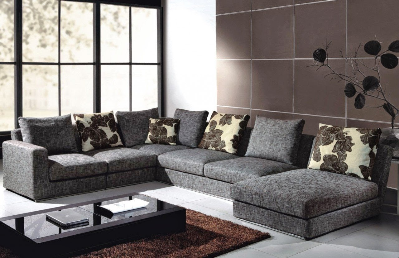 Mesmerizing Sofas and Sectionals for Living Room Furniture Ideas: Charming Design Sofas And Sectionals With Cushion And Laminate Flooring For Living Room Ideas