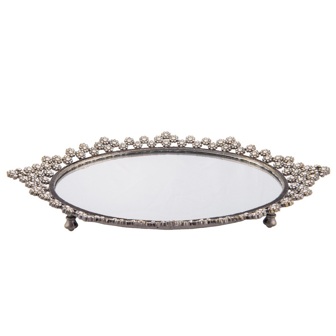 Charming design mirror tray with modern design