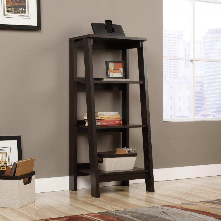 Charming Sauder Bookcases With Rugs And Laminate Flooring Plus Window Treatments For Living Room Ideas