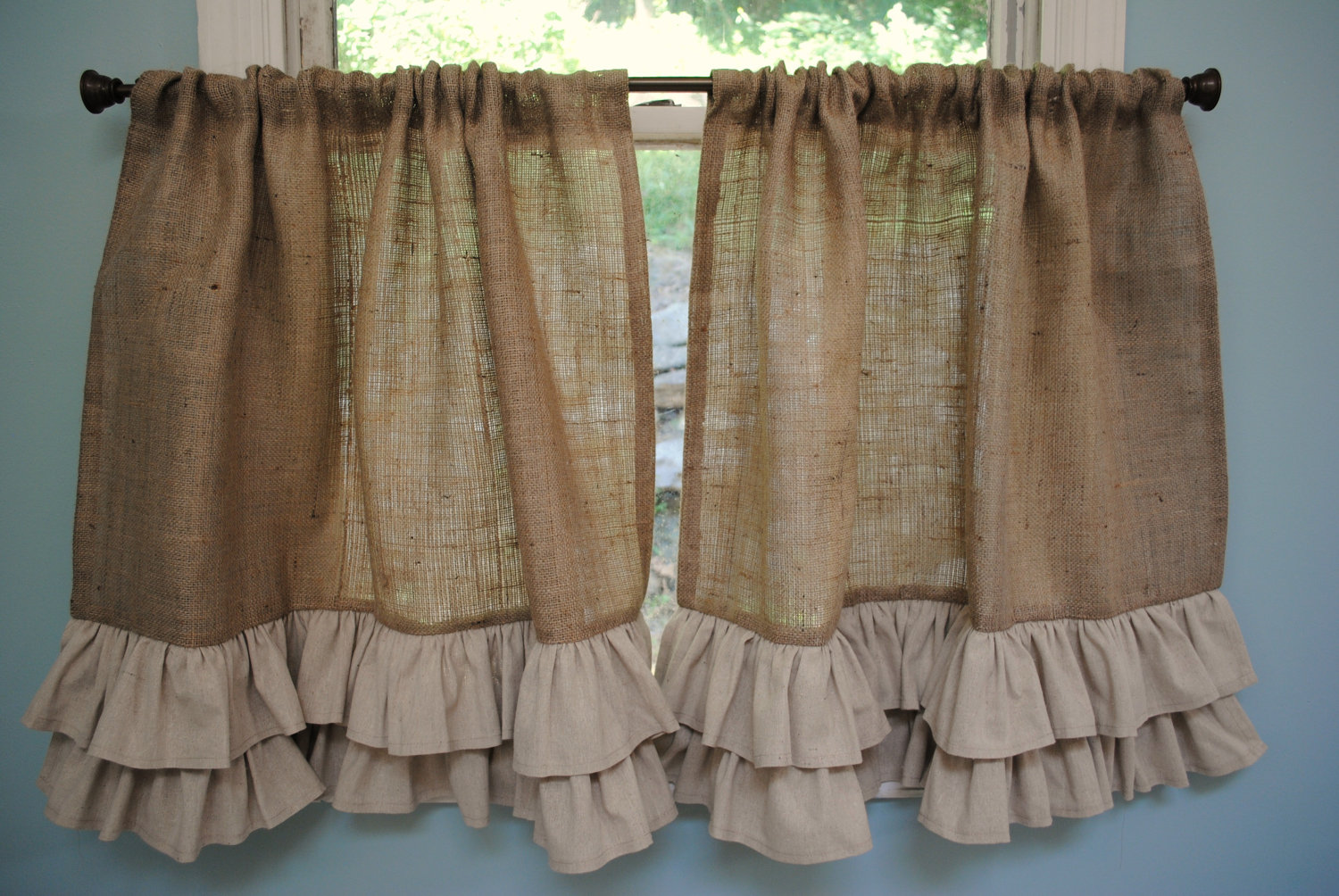 Chic Design Color Bathroom with burlap shower curtain for make your Bathroom Interior more Awesome