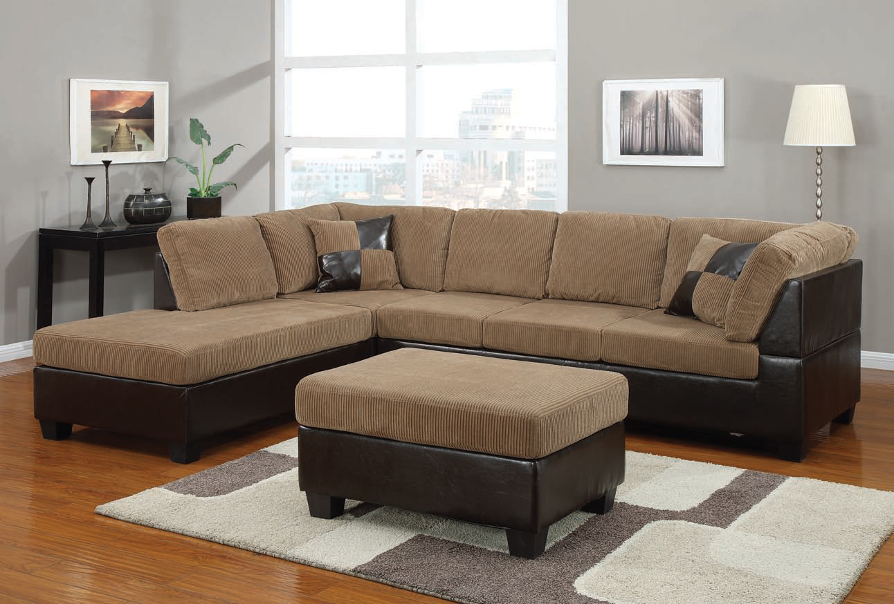 Chic Design sofas and sectionals with cushion and laminate flooring for living room Ideas