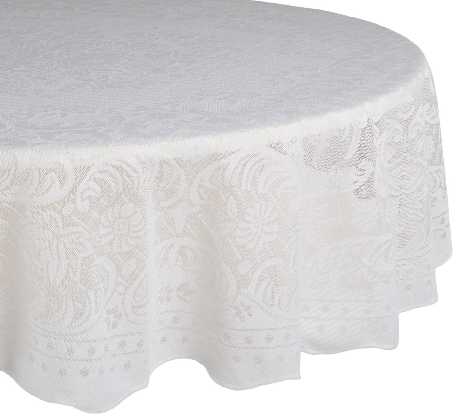 Interesting 90 Round Tablecloths with Unique Design for Home Furniture Ideas: Classy Color 90 Round Tablecloths With Bright Interior Colors For Dining Room Furniture Ideas