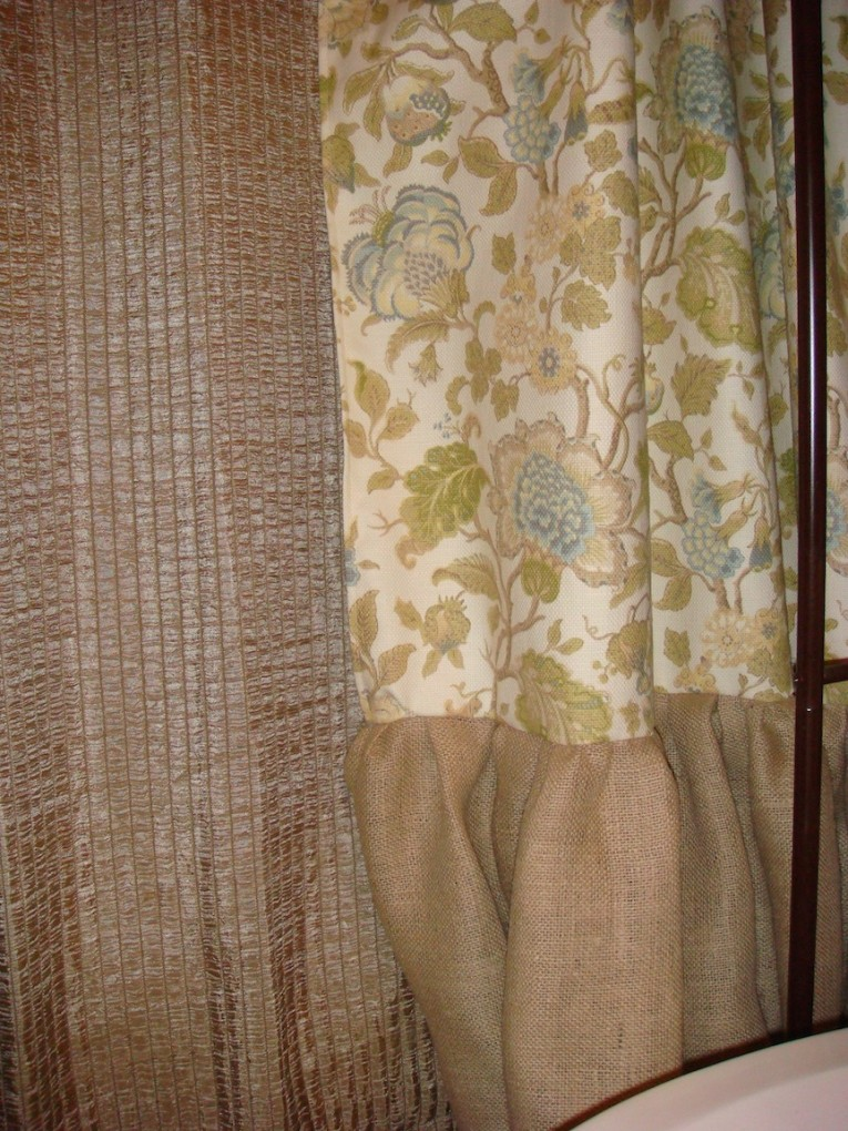 Classy Design Color Bathroom With Burlap Shower Curtain For Make Your Bathroom Interior More Awesome