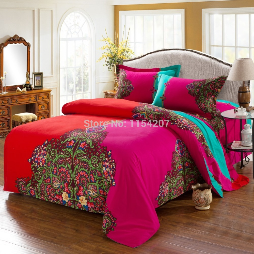 Classy Queen and King Bed size bohemian duvet covers with unique pattern for Bed room Furniture Ideas