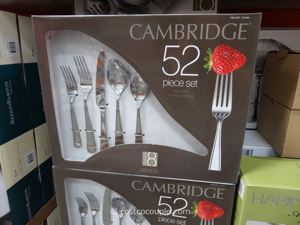Classy Cambridge Flatware 5 Pcs Silverware Flatware For Kitchen Or Dining Ideas