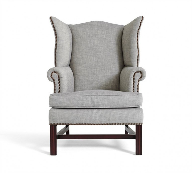 Classy Wing Back Chair With Solid Strong Wood Furniture Design For Dining Chair And Living Room Chair Ideas