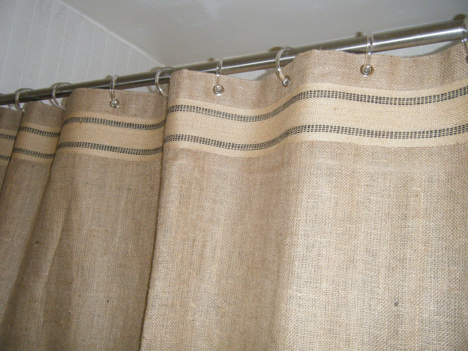 Cool Design Color Bathroom with burlap shower curtain for make your Bathroom Interior more Awesome