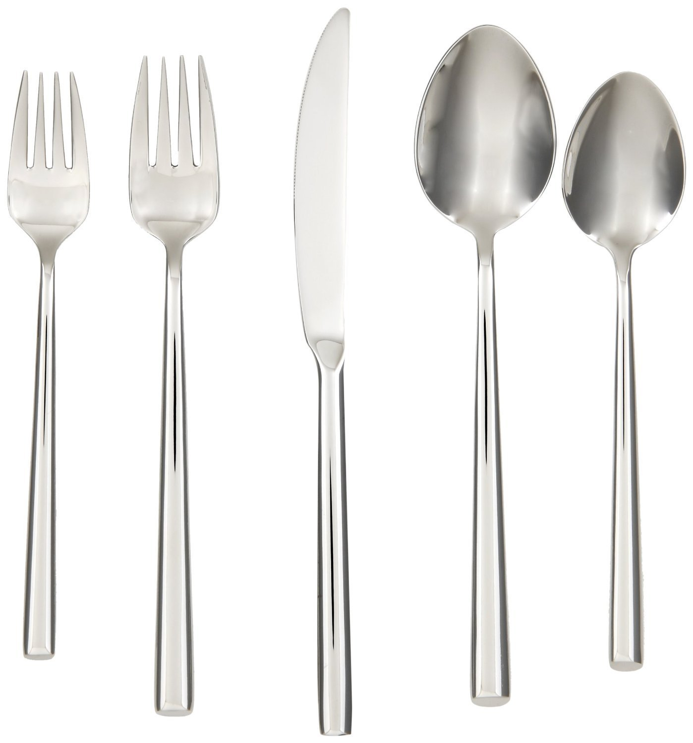 Cool cambridge flatware 5 pcs silverware flatware for kitchen or dining Ideas