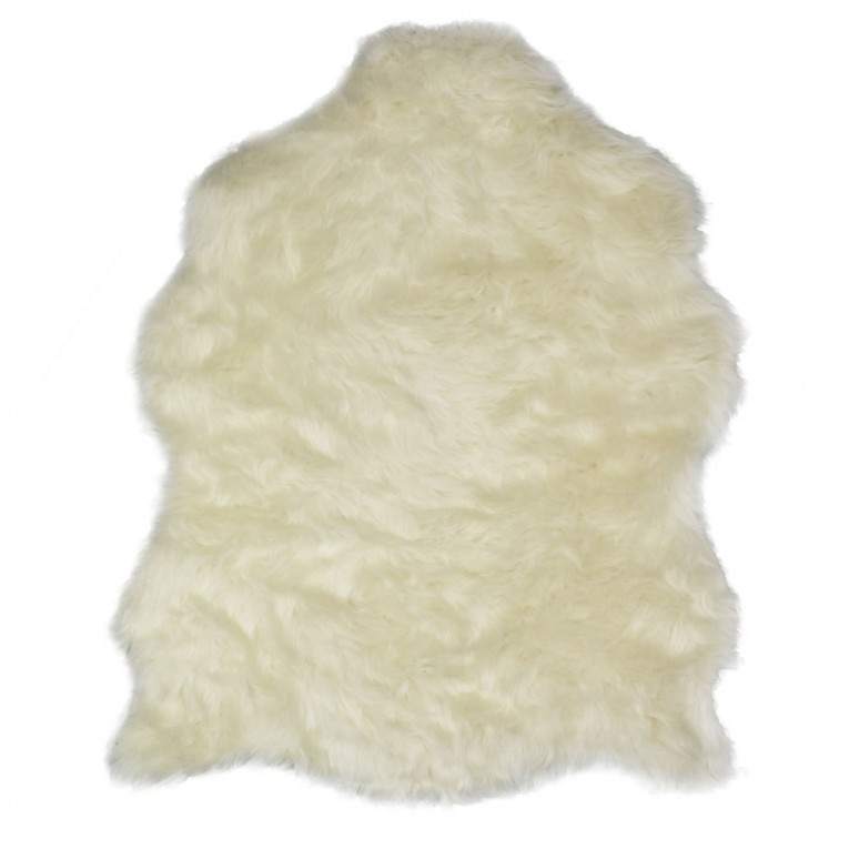 Cool White Fur Rug With Best Wooden Laminate Flooring And Sofa Chairs For Living Room Ideas