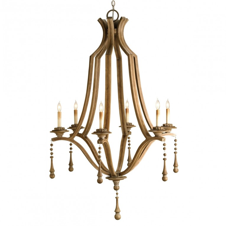 Cool White Wood Bead Chandelier With Ceiling Light Fixture Furnishing For Living Room Ideas