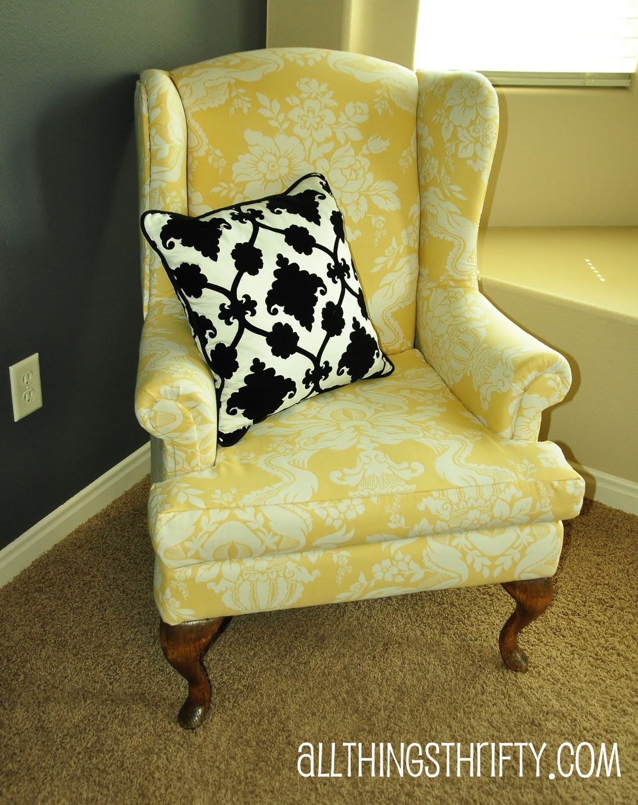 Dining Room: Cool Wing Back Chair With Solid Strong Wood Furniture ...