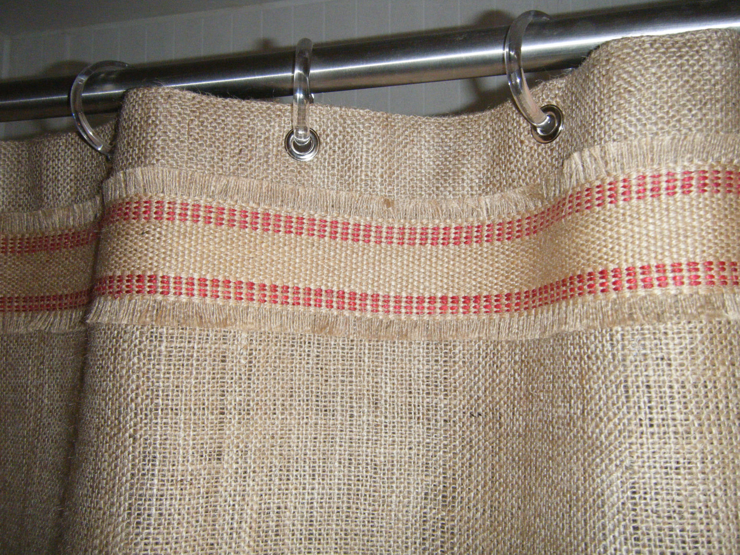 Creative Design Color Bathroom With Burlap Shower Curtain For Make Your Bathroom Interior More Awesome